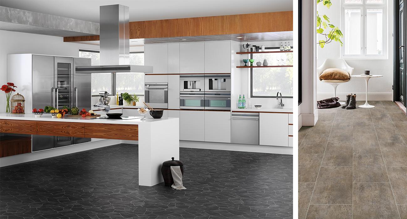 Nytt golv i kök och hall
